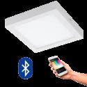 EGLO 96673 FUEVA CONNECT, Bluetooth LED-Deckenleuchte RGBW, weiss