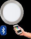 EGLO 96676 FUEVA CONNECT, Bluetooth LED-Einbauleuchten RGBW, silber