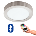 EGLO 96678 FUEVA CONNECT, Bluetooth LED-Deckenleuchte RGBW, silber