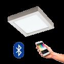 EGLO 96679 FUEVA CONNECT, Bluetooth LED-Deckenleuchte RGBW, silber