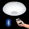 EGLO 96684 VOLTAGO CONNECT, Bluetooth LED-Plafonnier RGBW, blanc