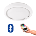 EGLO 96686 CAPASSO CONNECT, Bluetooth LED-Plafonnier RGBW, blanc