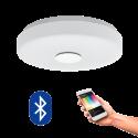 EGLO 96819 BERAMO CONNECT, Bluetooth LED-Plafonnier RGBW, blanc