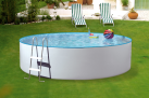 myPOOL Pool-Set SPLASH, 350 x 90 cm, weiss