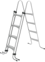 myPOOL Stahlrohrleiter, 0.9 m, Silber