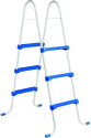 myPOOL Stahlrohrleiter, 0.9 m, weiss/blau
