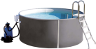 myPOOL Pool-Set PREMIUM, 500 x 120 cm, anthracite