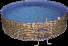 myPOOL Pool-Set SPLASH, 350 x 90 cm, stein