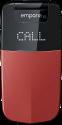 emporia GLAM V34 - Cellulare per anziani - Ampio display a colori - Rosso