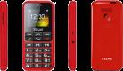 emporia TELME C151 - Téléphone portable à touches larges - Grand écran couleur - Rouge