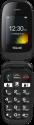 emporia TELME X210 - Telefono cellulare a conchiglia - Dual SIM - Nero