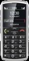 emporia Classic - Mobiltelefon - Grosses Farbdisplay - Schwarz/Silber