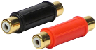 RTA 352.031-0 RCA adapter - 2 x femminile - Nero/Rosso