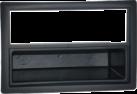 RTA 001.261-0 - Telaio di montaggio con vano portaoggetti - 2-DIN - Per Renault Megane - Nero