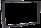 RTA 002.150P0-0 - 2-DIN Profi Radioblende - Für Opel - Schwarz