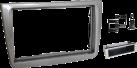 RTA Multifunktionelle Radioblende - 1- DIN + Doppel DIN - Grau