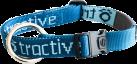 tractive Halsband für Hunde, Small (30-50 cm), blau