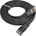 Wirewin SLIM CAT6 - Patchkabel - 1m - Schwarz