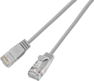 Wirewin CAT6 SLIM LIGHT UTP - Patchkabel - 2.8 mm, Rundes - 1 m - Grau