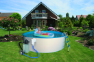 myPOOL Pool-Set TREND, 450 x 120 cm, weiss