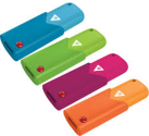 EMTEC B100 CLICK COLOR - USB Flash Drive - 8GB - Assortiert