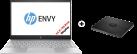 hp ENVY 13-ad044nz - Notebook - 13.3 - Silber + HP F6V97AA - Lecteur de disque externe