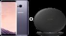 SAMSUNG Galaxy S8+ - Android Smartphone - 64 GB - Orchid Grey + SAMSUNG EP-PG950 - Ladestation - Mit Schnellladefunktion - Schwarz