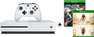 Microsoft Xbox One S + Gears Of War 4 (DLC) - 1TB - Weiss + Halo 5 - Guardians, Xbox One [Französische Version]