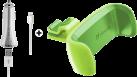 cellularline Car Travel Charger Set - Weiss + cellularline Car Holder - Grün
