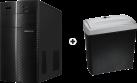 MEDION Akoya P3613 D - Gaming PC - AMD Ryzen 5 1400 Prozessor - Schwarz + ISY IOE-718 - Aktenvernichter - Cross cut - 11 l - Schwarz