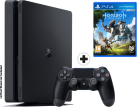 Sony PS4 Slim - Spielkonsole - 500 GB HDD - Schwarz + Horizon Zero Dawn, PS4, multilingual