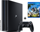 Sony PS4 Pro - Spielkonsole - 1 TB HDD - Schwarz + Horizon Zero Dawn, PS4, multilingual