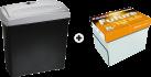 OTHER BUDGET PLAN Future Lasertech - Papier - A4 + ISY IOE-718 - Destructeur - Coupe croisée - 11 l - Noir
