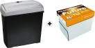 OTHER BUDGET PLAN Future Lasertech - Carta - A4 + ISY IOE-718 - Distruggidocumenti - Frammento - 11 l - Nero