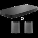 SONOS Playbase Soundbar + 2x SONOS Play: 1 Multiroom-Lautsprecher