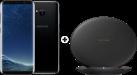 SAMSUNG Galaxy S8 - Android Smartphone - 64 GB - Midnight Black + SAMSUNG EP-PG950 - Ladestation - Mit Schnellladefunktion - Schwarz