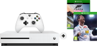 Microsoft Xbox One S + Forza Horizon 3 (Play Anywhere DLC) - 500GB - Weiss + FIFA 18, Xbox One, multilingual