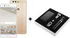 HUAWEI P10 Plus - Smartphone Android - Mémoire 128 Go - Or + Huawei Powerbox - Blanc