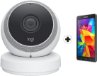 LOGITECH Circle WLAN-Kamera, weiss + SAMSUNG Galaxy Tab 4 7 Wi-Fi,  8 GB, schwarz