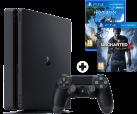 Sony PS4 Slim - Spielkonsole - 500 GB HDD - Schwarz + Horizon Zero Dawn, PS4, multilingual + Uncharted 4: A Thief's End, PS4, multilingual