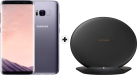 SAMSUNG Galaxy S8 - Android Smartphone - 64 GB - Orchid Grey + SAMSUNG EP-PG950 - Ladestation - Mit Schnellladefunktion - Schwarz