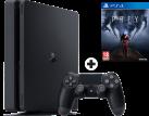 Sony PS4 Slim - Spielkonsole - 500 GB HDD - Schwarz + Prey, PS4 [Französische Version]