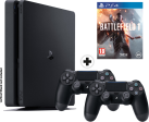 Sony PlayStation 4 Slim 1TB incl. 2. Controller + Battlefield 1