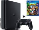 Sony PS4 Slim - Spielkonsole - 500 GB HDD - Schwarz + Crash Bandicoot - N` Sane Trilogy, PS4