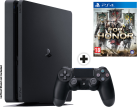 Sony PS4 Slim - Spielkonsole - 500 GB HDD - Schwarz + For Honor, PS4, multilingual