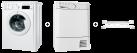 Indesit IWE 71252 C ECO EU + Indesit EDPA 745 A ECO - Trockner - 7 kg Fassungsvermögen - weiss + Indesit KIT BRKT CONDENSER