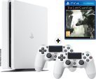 Sony PS4 Slim inkl. 2. Controller - Spielkonsole - 500 GB HDD - Weiss + The Last Guardian, PS4, multilingual