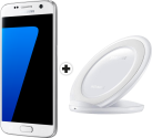 SAMSUNG Galaxy S7 - 32GB - Weiss + SAMSUNG Wireless Charger Stand, weiss