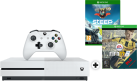 Microsoft Xbox One S + Fifa 17 (DLC) - 500GB - Weiss + Steep, Xbox One, multilingual