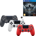 3 x Sony Playstation DUALSHOCK 4 - Wireless-Controller + Diablo 3 - Ultimate Evil Edition, PS4 [Französische Version]